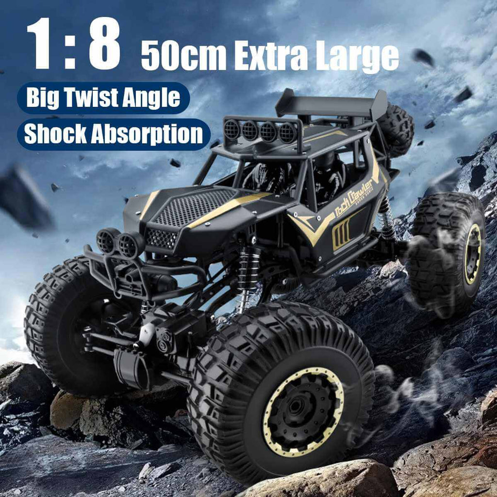1:8 Extra Large Remote Control Car Climbing Monster Buggy 2.4G 4WD Off-road Truck Gifts for Kids and Adults