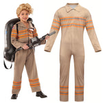 Kids Ghostbusters Jumpsuit Cosplay Uniform Halloween Purim carnival Cosplay