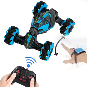 2.4G 4WD RC Watch Gesture Induction Off-Road Deformation 360° Rotation Car Twist Stunt Vehicle