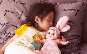 FD Simulated Doll Soft Silcone Sleep Baby Pacify to Sleep with Adorable Doll Children Doll Toy