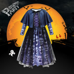 Girls Halloween Party Dress With Shawl Skull Printed Fancy Dress Up  Costume Kids Cosplay Princess Frocks