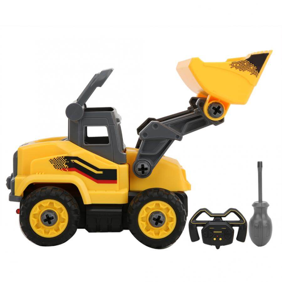 2in1 Building Blocks Remote Control Construction Trucks Take Apart DIY Assemble Excavator and Bulldozer