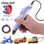Kids 3D Print Pen Magic Doodle 3d Pen With Free 10 Meters PLA Filament