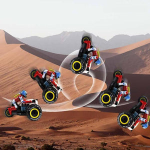 2.4Ghz RC Car Dirt Bike Amphibious Motorcycle Stunt Racing Vehicle Model For Children's Gift