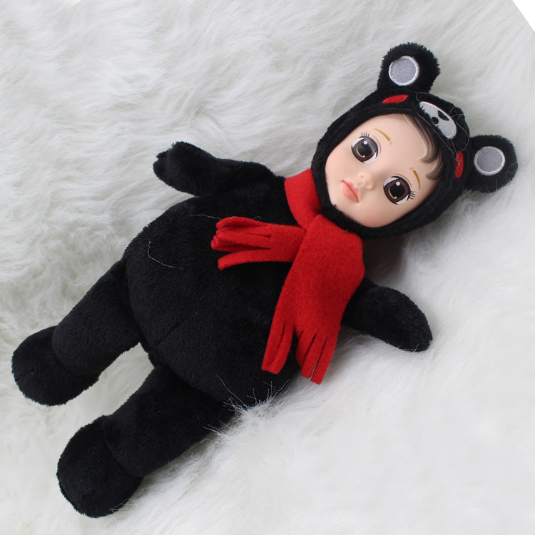 FD Simulated Doll Soft Sleep Baby Pacify to Sleep with Adorable Doll Children Doll Toy