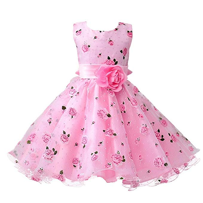Toddler/ Little Girls Flower Girls Dresses Kids Wedding Birthday Prom Party Dress