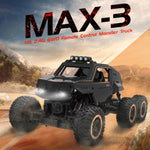 1/12 Scale 6WD Remote Control Truck Dual Motors Rechargeable Off Road 6x6 Car Monster For Kids and Adults