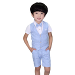 4 pcs Boys Summer Formal Suits Wedding Party Gentleman Clothing Sets