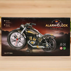 Super Cool Motorcycle Alarm Clock Watch Shape Creative Retro Gifts