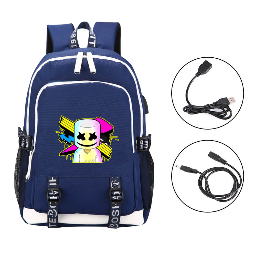 Anti Theft Marshmallow Backpack Luminous Travel Backpack with USB Charging Port, Unisex College Bookbag Laptop Backpack