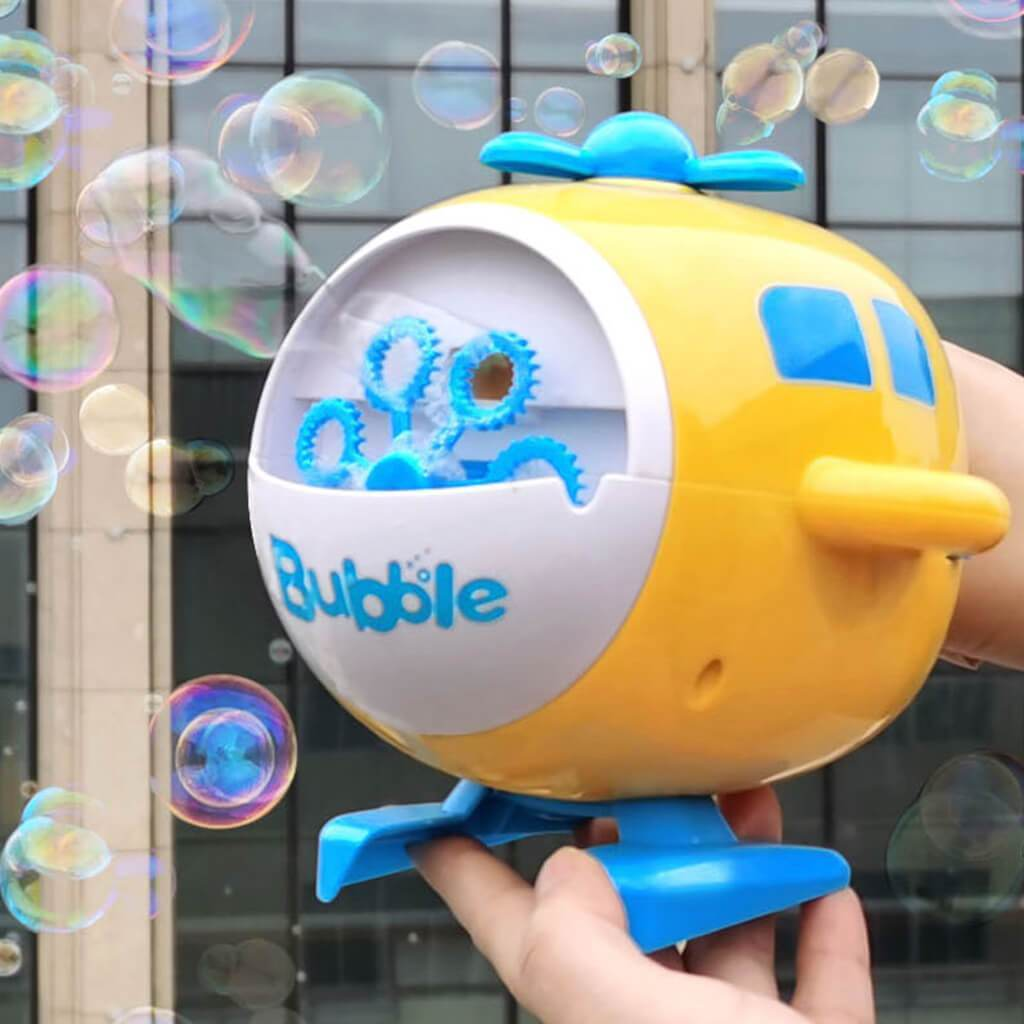 Kids Bubble Machine - Automatic Bubble Maker Helicopter Toy Gift for Girls and Boys