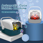 Durable Automatic Bubble Machine Portable Bubble Blower Birthday Wedding Outdoor Bubble Maker