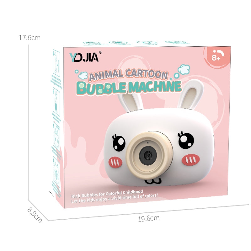 Kids Cute Bubble Machine Magic Camera with Bubble Auto Blowing, with Music and Light