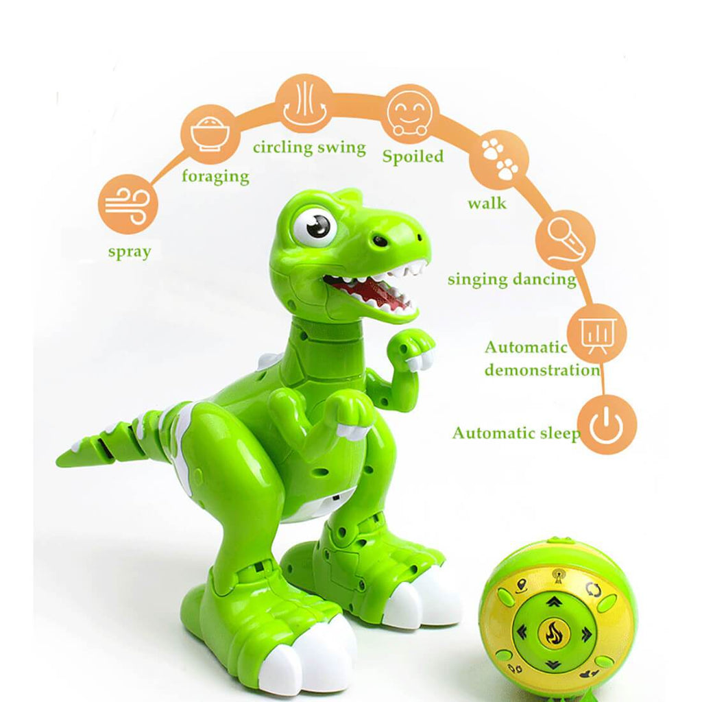 Remote Control Sensing Dinosaur Cartoon Cute Gesture Interactive Electronic Spray Dinosaur Toy