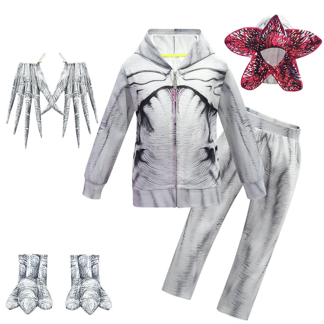 Kids Demogorgon Costume Party Cosplay Stranger Monster Outfits