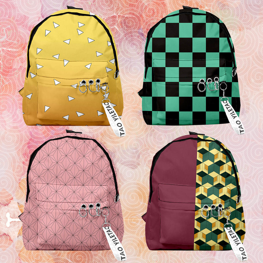 Demon Slayer Backpacks Nezuko Tanjirou Zenitsu Giyuu Kimetsu No Yaiba Backpack Travel Bags