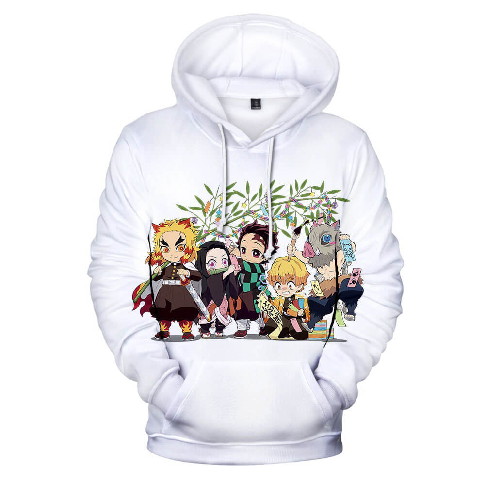 Kids and Teens Demon Slayer Hoodie Kimetsu no Yaiba Kamado Tanjirou Cosplay Shirt