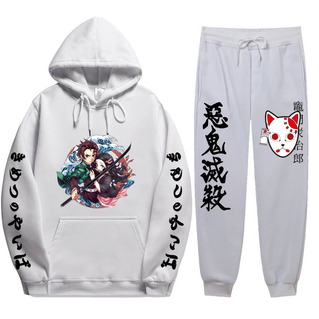 Demon Slayer Hoodie and Pants Kimetsu no Yaiba Unisex Cosplay Costume For Adults/ Youth