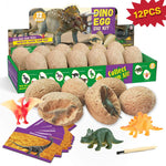Dinosaur Eggs Dig Kits -12 Dinosaur Excavation Kits with 12 Unique Dinosaur Toys