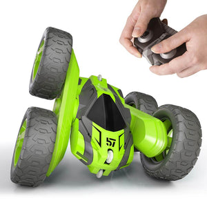 2.4GHZ Remote Control Stunt Car 360 degrees Rotation And Flip Double Side All-Terrain Racing Buggy Car