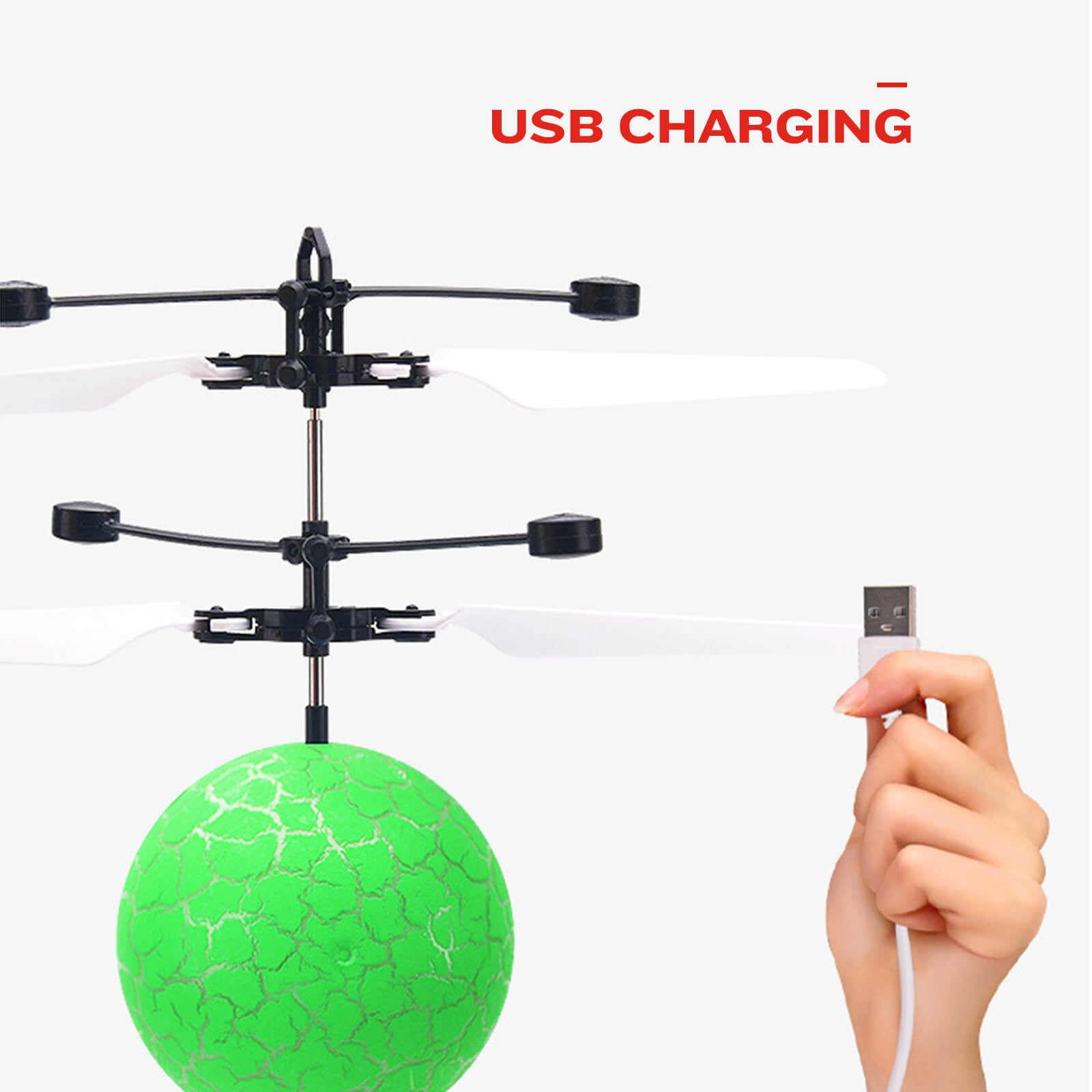 Hands Free Mini Drone Fancy Crystal Flying Ball LED Light RC Drone Induction Aircraft Toys