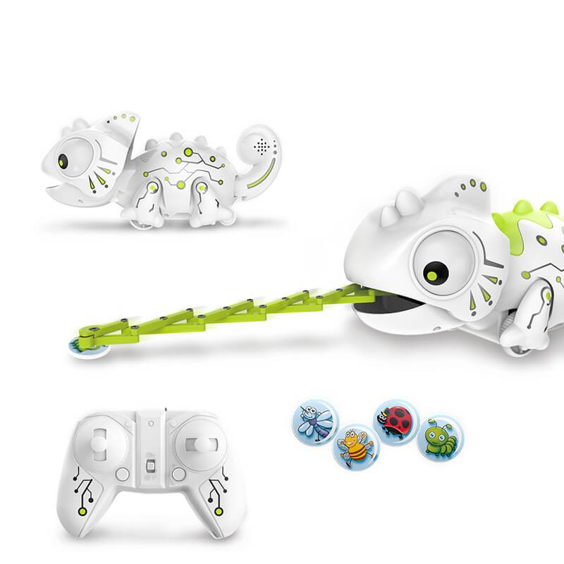 2.4G Remote Control Foraging Chameleon Robotic Intelligent Dinobot Dinosaur Toys Electronic Pet