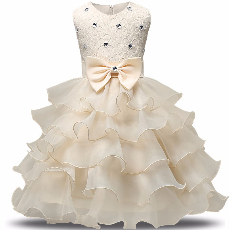 Toddler Ruffles Lace Party Wedding Dresses