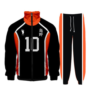 Haikyuu Uniform Karasuno High School Jackets Shoyo Hinata Cosplay Costume All Characters Outfit