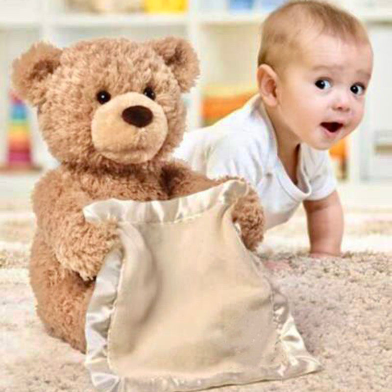 Peek-A-Boo Teddy Bear Animated Stuffed Animal Toy For Toddler