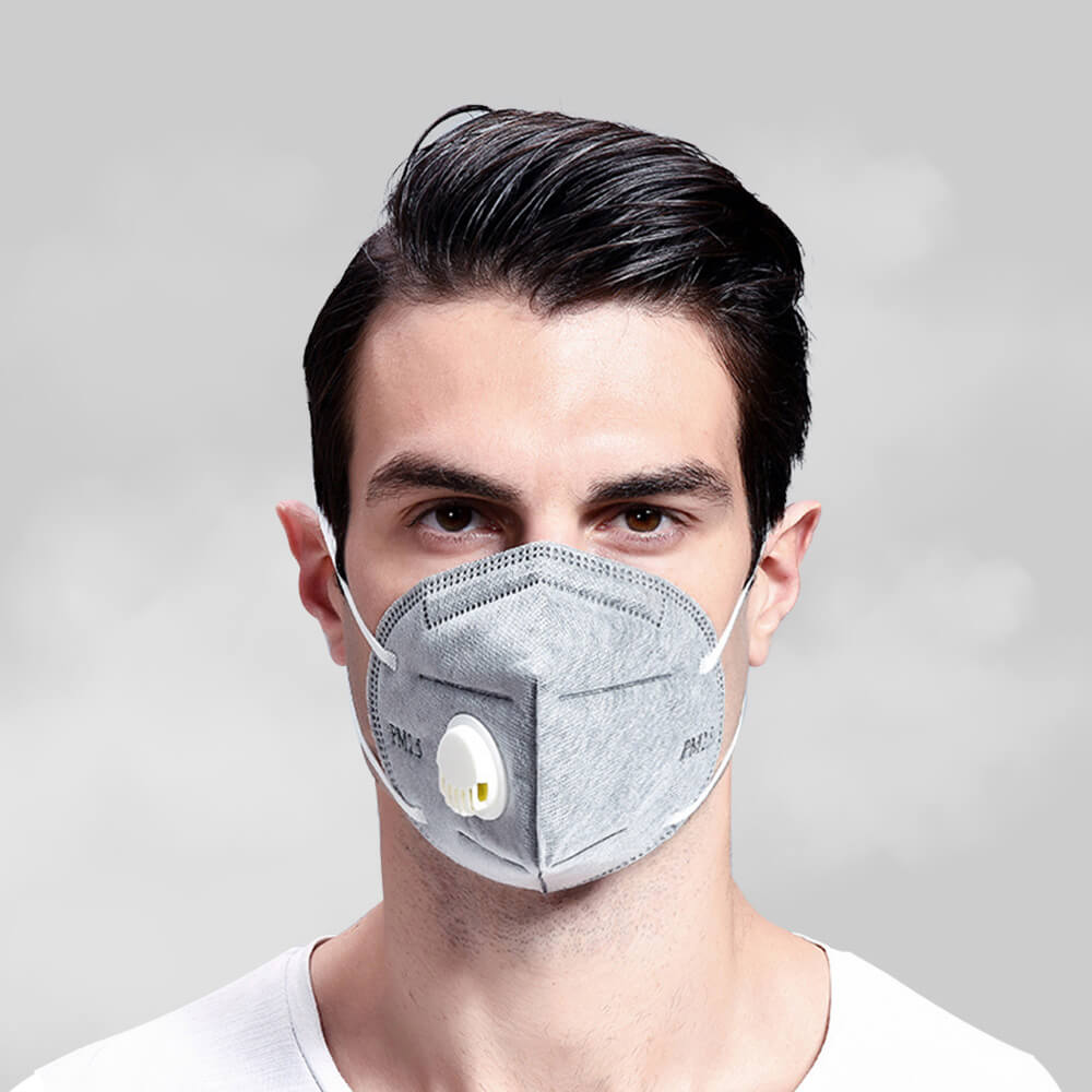 10PCS KN95 Face Mask With Valve Gauze 95% Respirator Mouth Mask PM 2.5 Filter Mask Valved Anti-Virus Mask
