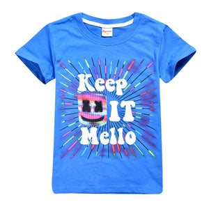 Kids Marshmallow T-shirt Pullover Short Sleeve Shirt