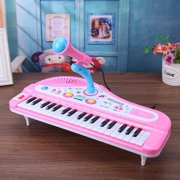 Kids Piano Toy with Keyboard and Microphone, Good Christmas Gift