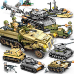 Military Technic Iron Empire Tank Building Blocks Set Weapon War Chariot Creator Army WW2 Soldiers Kids Toys