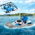 RC Mini Drone Boat Car Triphibian Vehicle Helicopter Drone Quadrocopter Remote Control Toy