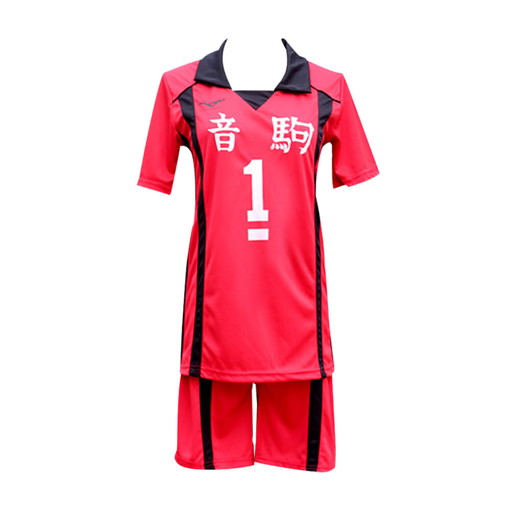 Haikyuu Uniform Halloween Cosplay Costume Nekoma High School Kozume Kenma Shirt Shorts