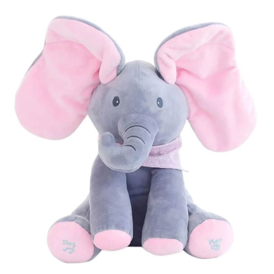 Baby Animated Singing Elephant Flappy Plush Toy Elephant Dog With Flapping Ears For Babies