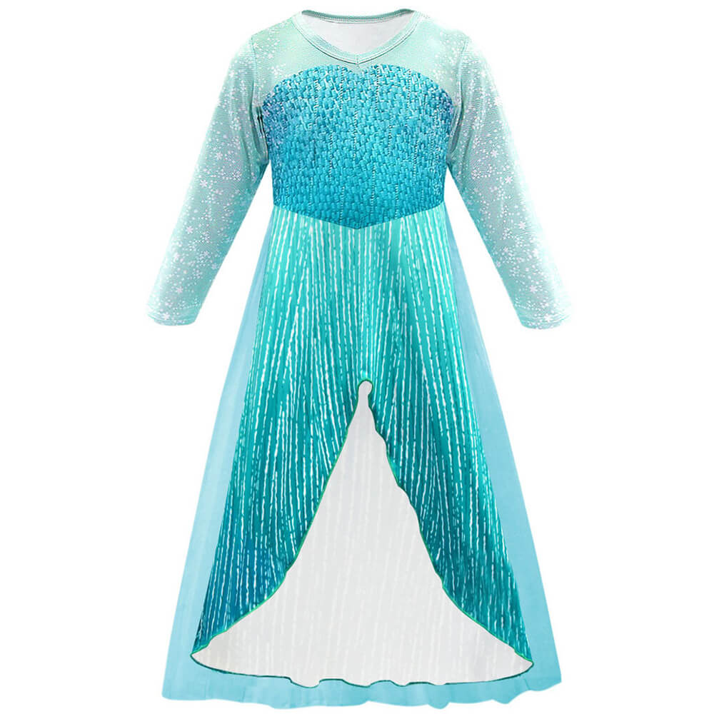 Little Girls Princess Elsa Dress For Kids 2-9 Years
