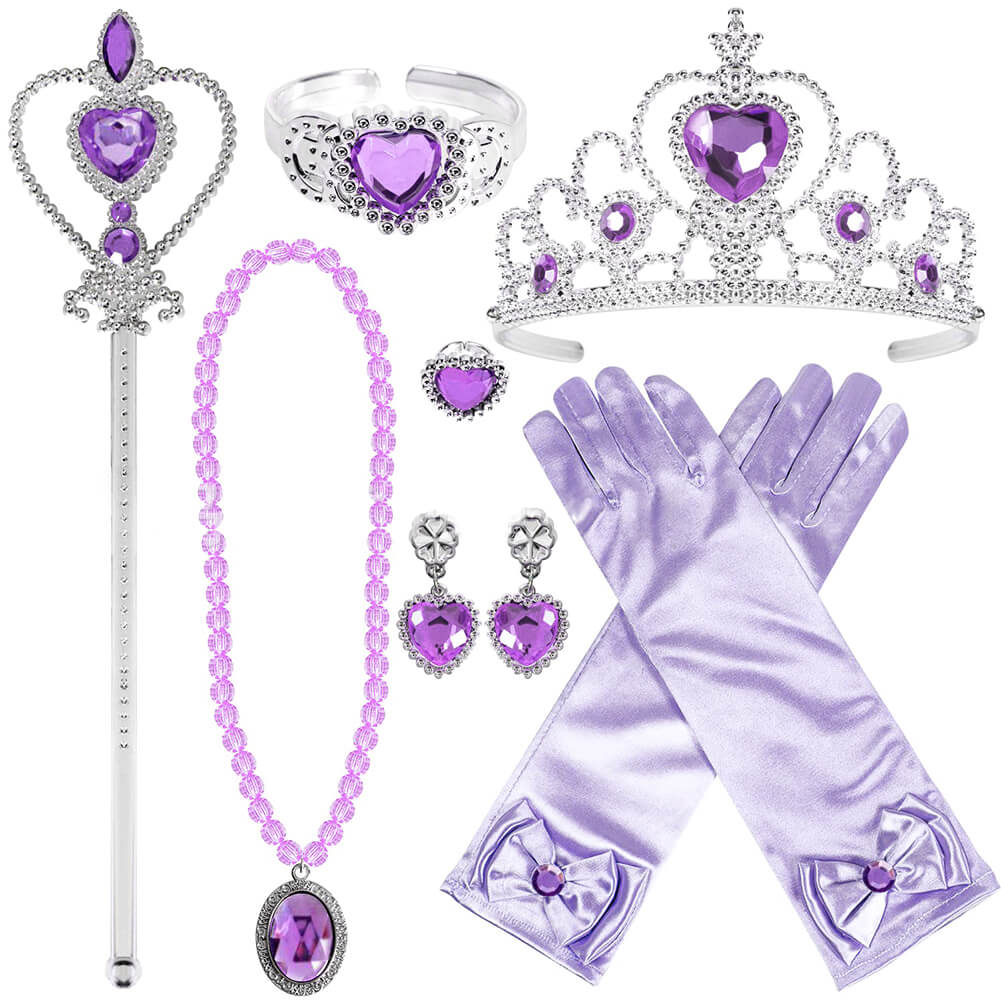 Princess Dress Up Accessories Halloween Cosplay 7PCS Set