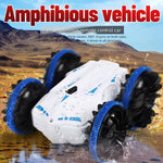 Stunt Amphibious Car for Kids - 2.4Ghz 360 Rotate Water and Land 4WD Amphibious Electric Toys