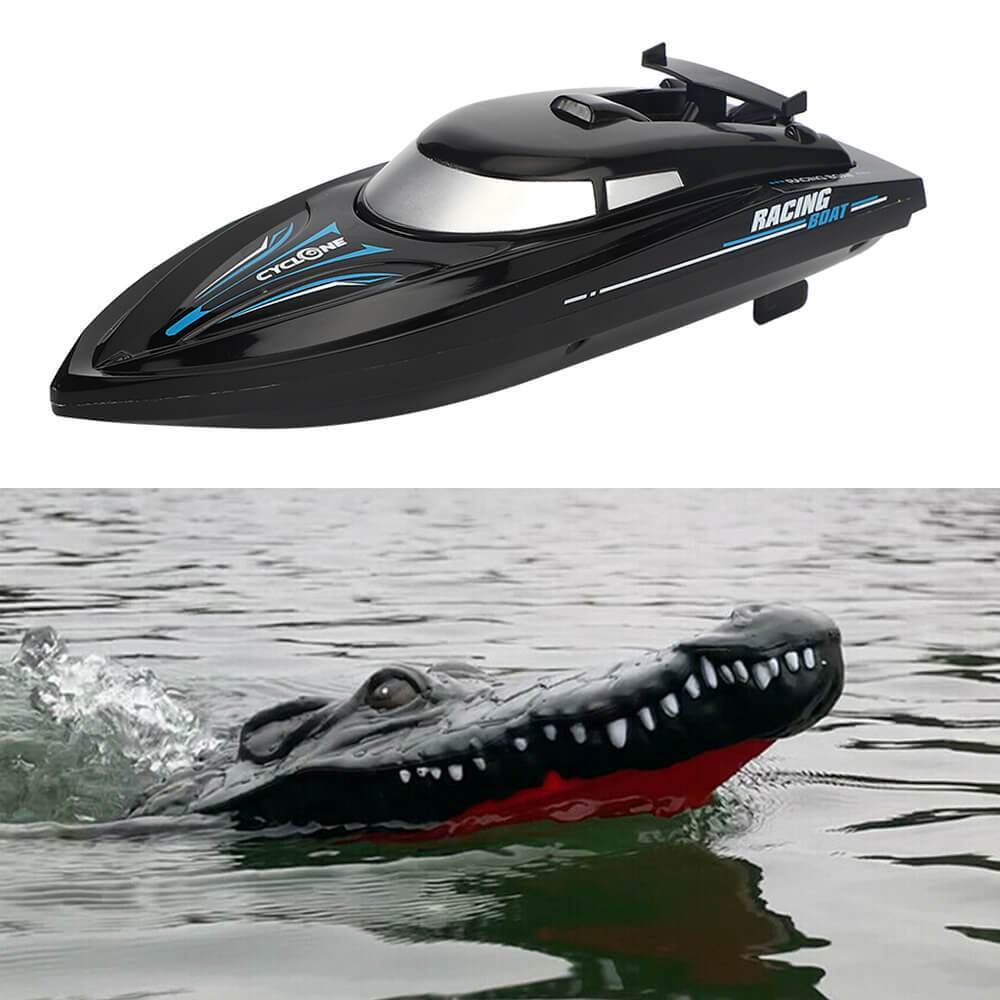 RC Racing Boat with Crocodile Head - Electric Racing Boat Remote Control Boat Pools Spoof Toy
