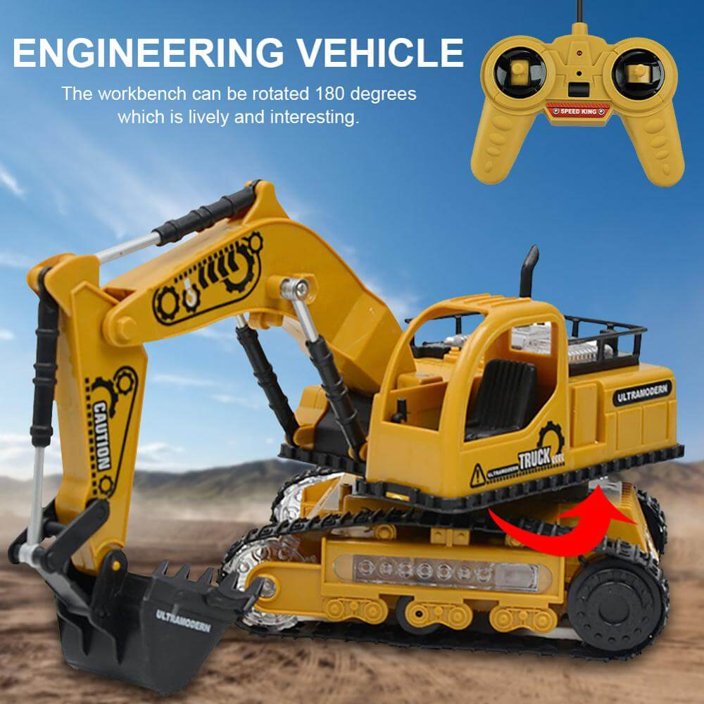 1:24 4CH RC Engineering Car Full Function Excavator Bulldozer Tractor Dump Truck Construction Vehicle