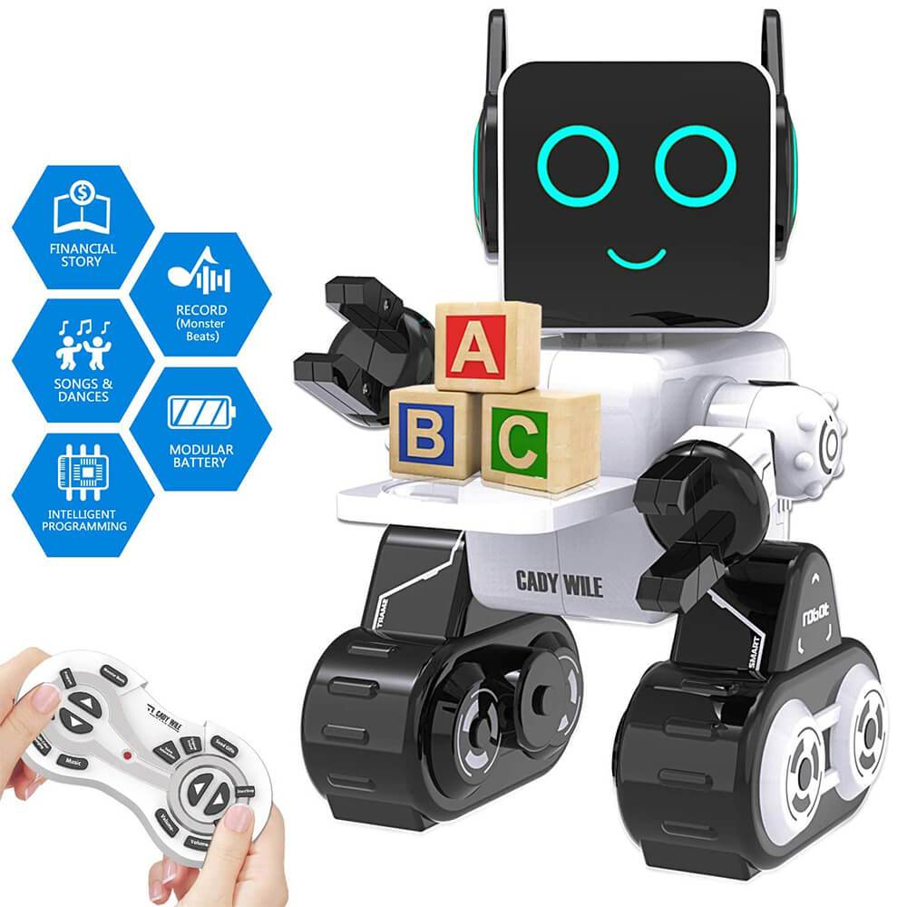Robot Toy for Kids Smart RC Robot with Touch & Sound Control Intelligent Programmable Robot