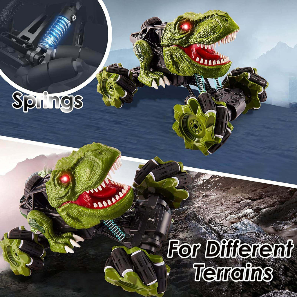 4WD Remote Control Dinosaur Car Drift Stunt Off-Road Truck Rechargeable Racing Car
