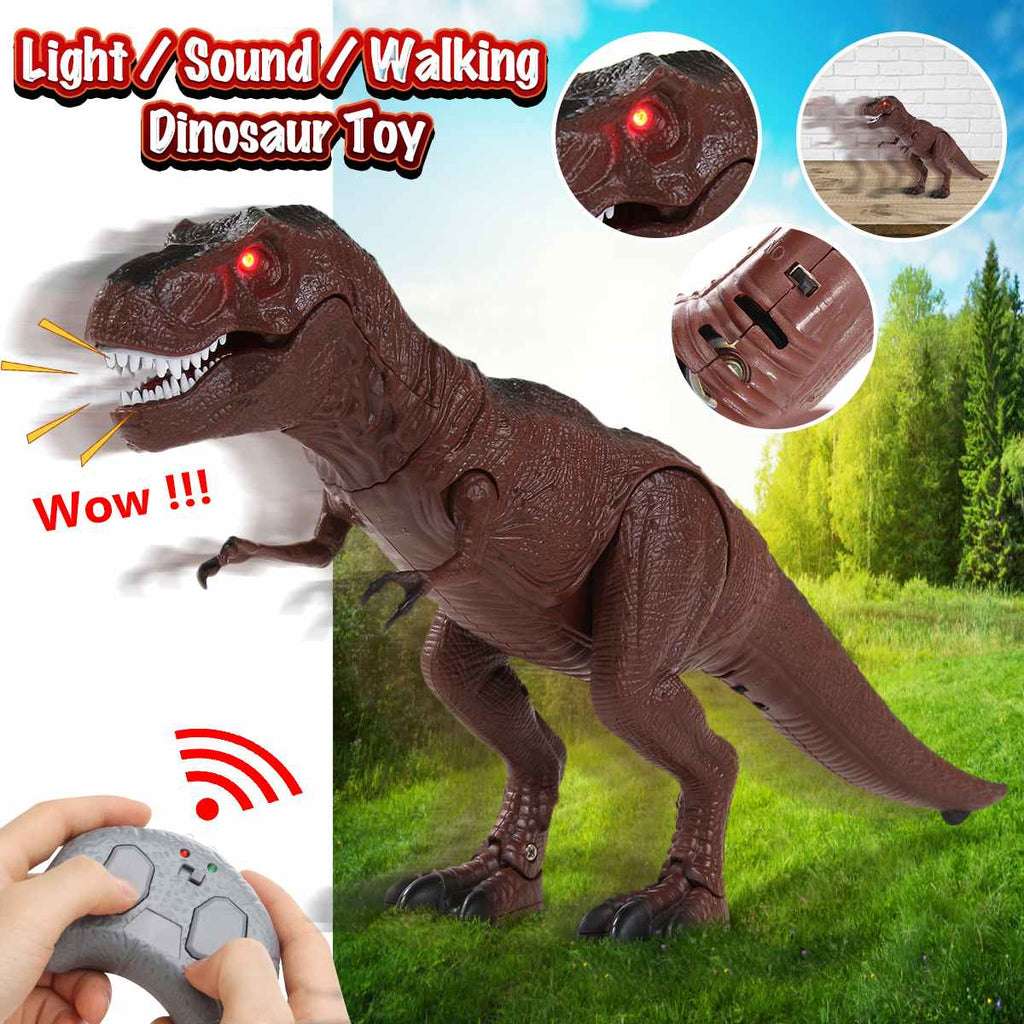 Realistic Infrared Remote Control Walking Dinosaur Best Tyrannosaurus Robot Gift For Kids