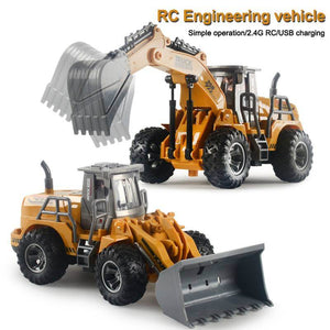 1:32 5 Channels Remote Control Engineering Truck Mini Excavator Bulldozer Tractor Dump Truck