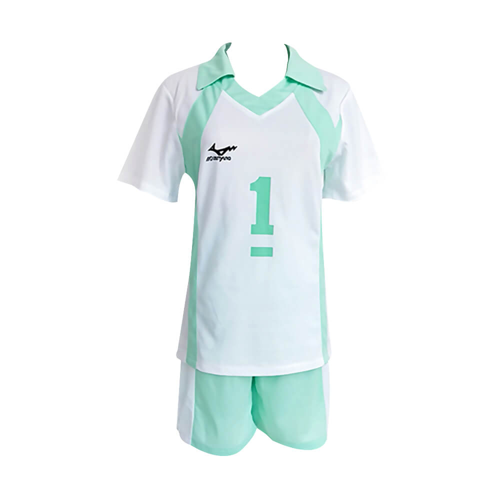 Haikyuu Uniform Shiratorizawa High School Volleyball Shirt Shorts