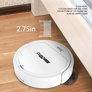 Smart Robotic Vacuum Cleaner Automatic 3-in-1 Robot Sweeper Home Floor Sweeping Machine White