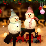 Solar Snowman Led Lamp Garden Light Christmas Decoration