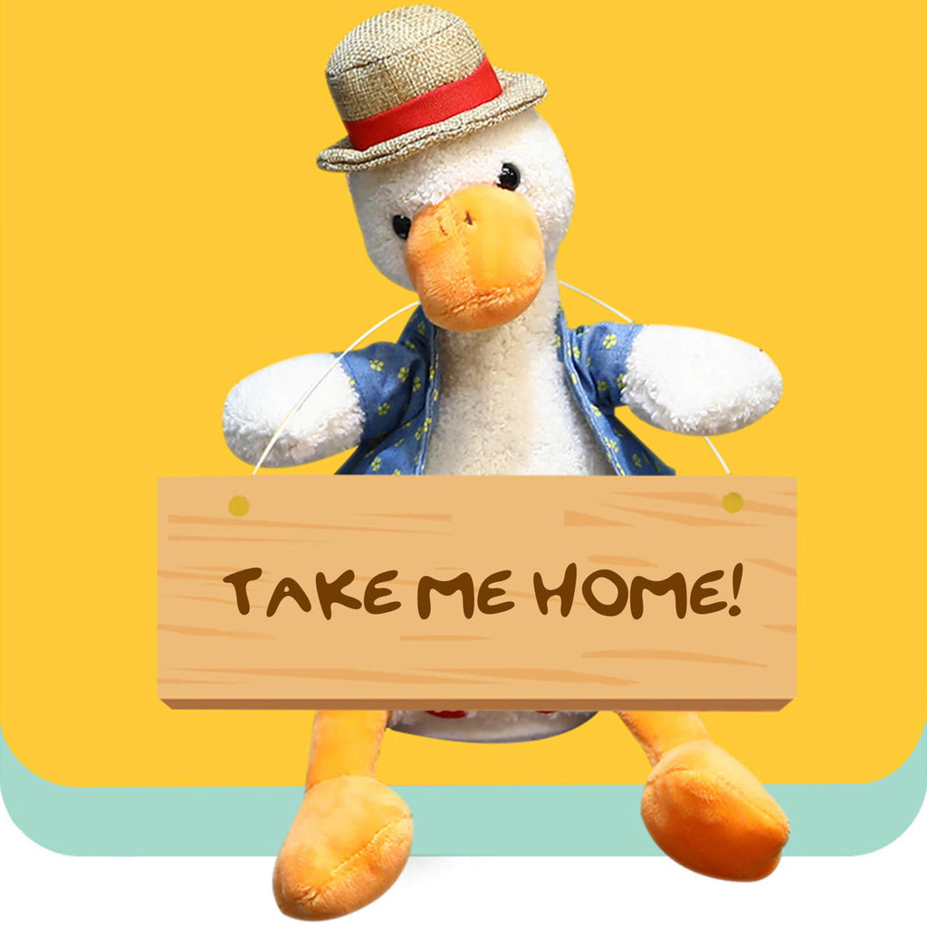 "14"" Super Soft Cuddly Talking Animal Duck Doll Plush Toy, Christmas Gift for Kids"