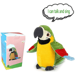 Newest Talking Parrot - Repeats What You Say With Cute Voice, Electronic Pet Plush Talking Animal Toy for Child Kids gift Party Toys